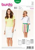 6769 Burda Pattern: Misses' Denim Skirts
